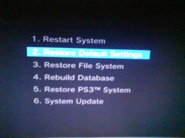 Ps3 restore file system stuck at 48