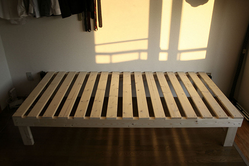 make a basic box bed frame
